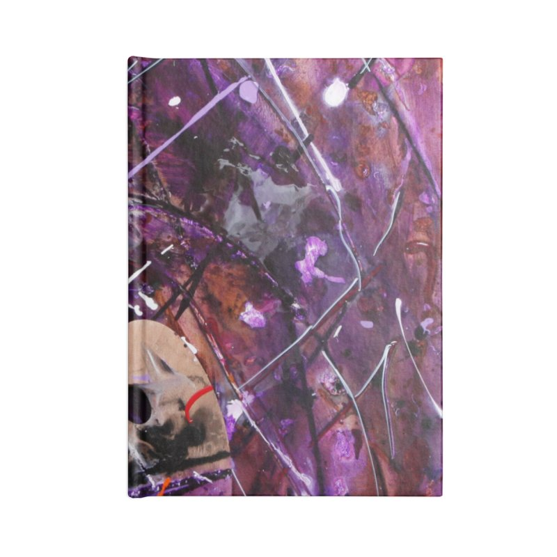 Purple Passion Accessories Lined Journal Notebook by Art By Poli