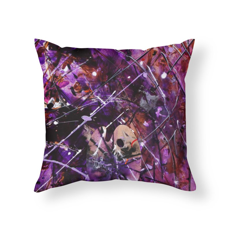 Purple Passion Home Throw Pillow by Art By Poli
