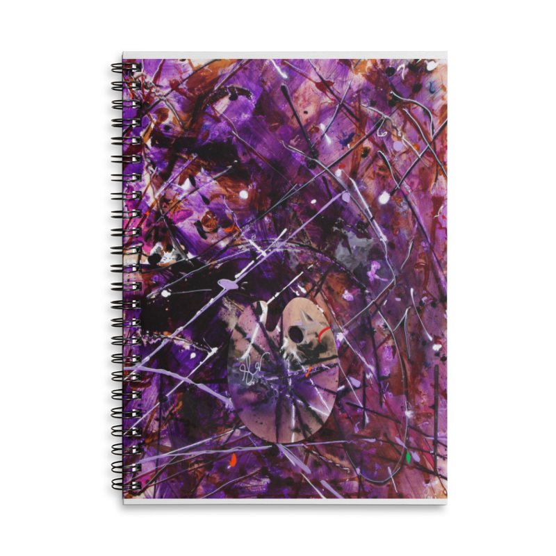 Purple Passion Accessories Lined Spiral Notebook by Art By Poli
