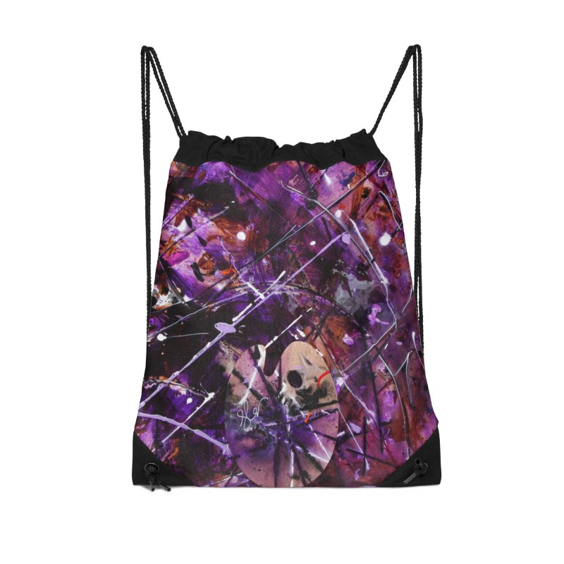 Purple Passion Accessories Drawstring Bag Bag by Art By Poli