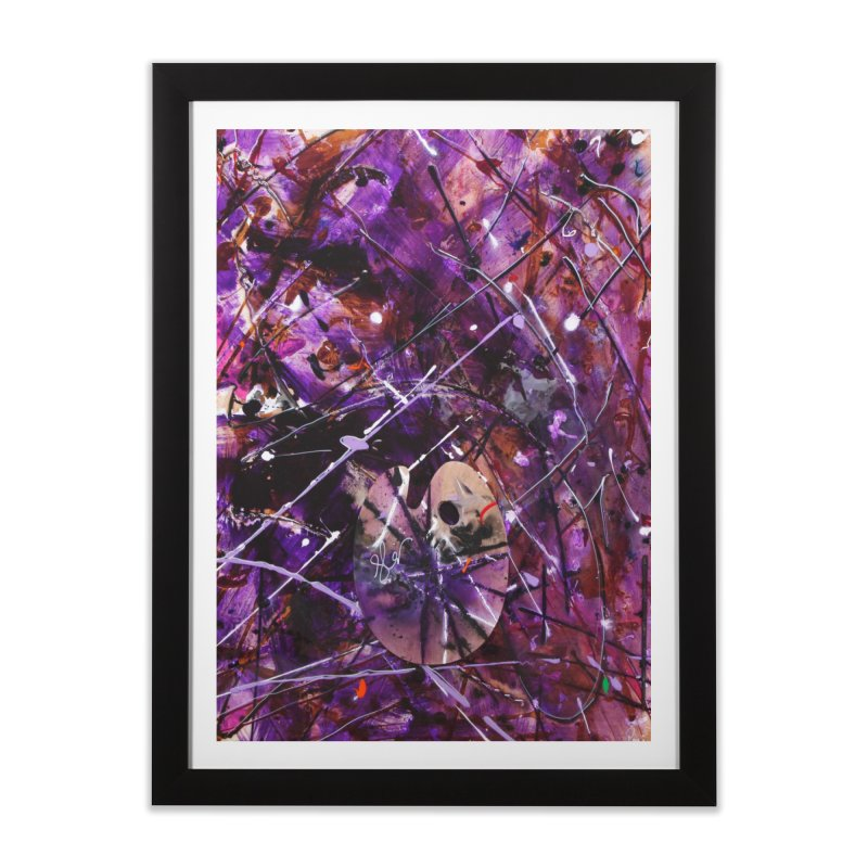 Purple Passion Home Framed Fine Art Print by Art By Poli