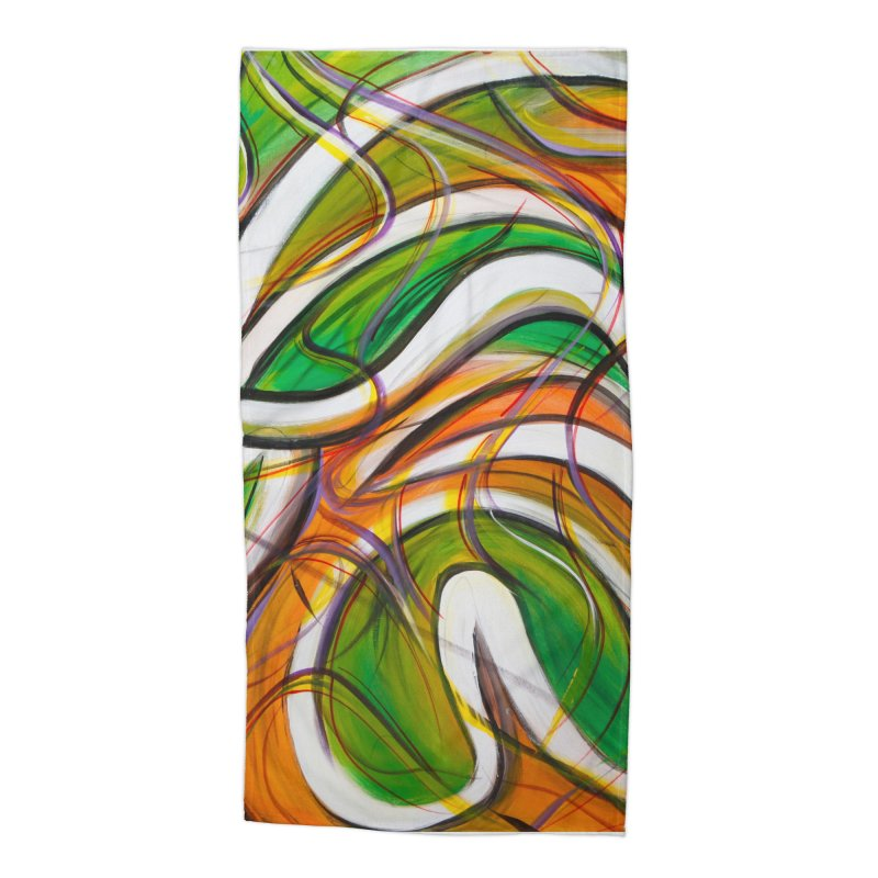 Frenzied Accessories Beach Towel by Art By Poli