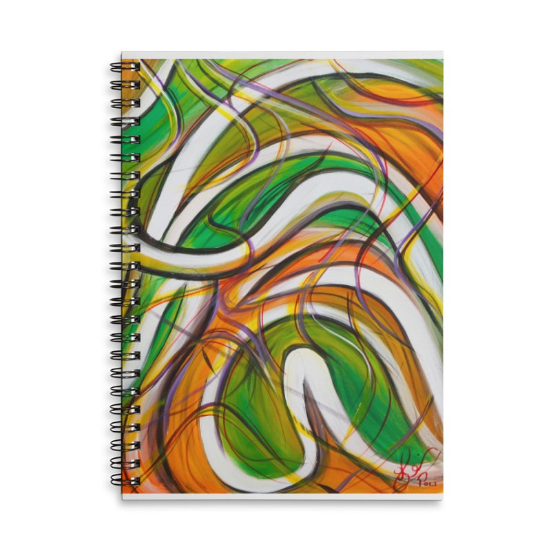 Frenzied Accessories Lined Spiral Notebook by Art By Poli