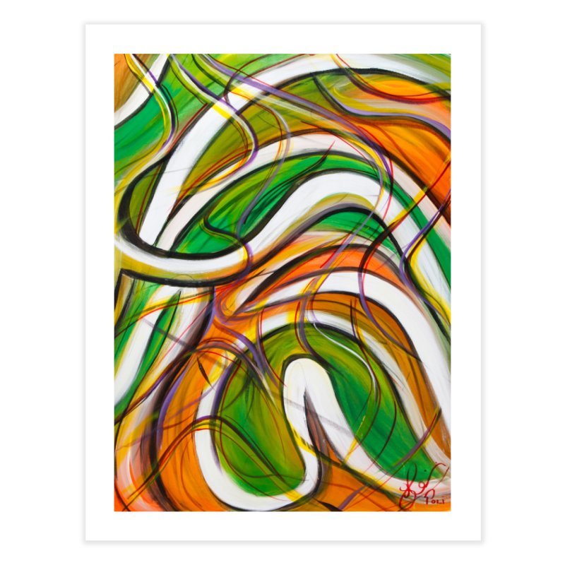 Frenzied Home Fine Art Print by Art By Poli