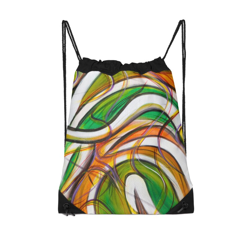Frenzied Accessories Drawstring Bag Bag by Art By Poli