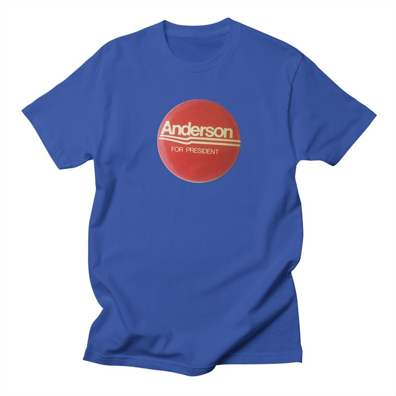 Anderson For President Men's T-shirt by Vintage Political Button Shirts