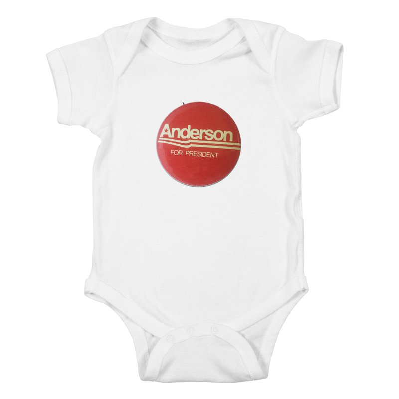 Anderson For President Kids Baby Bodysuit by Vintage Political Button Shirts