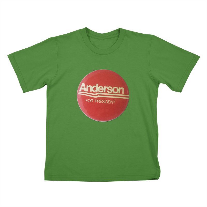 Anderson For President Kids T-shirt by Vintage Political Button Shirts