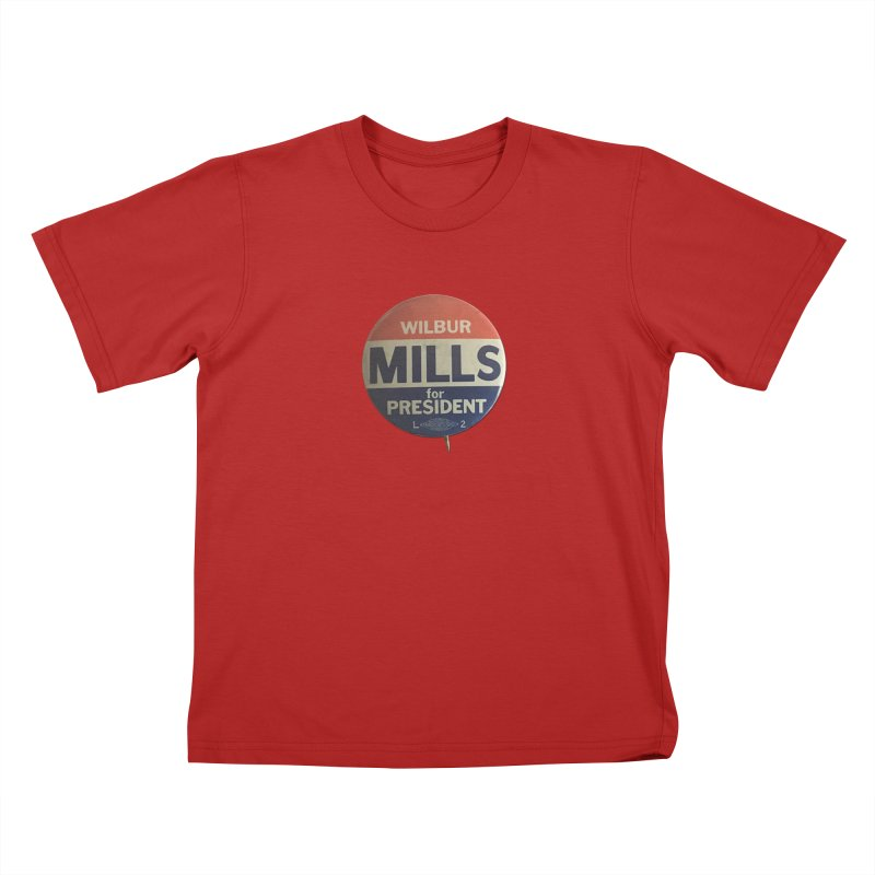 Wilbur Mills for President Kids T-shirt by Vintage Political Button Shirts
