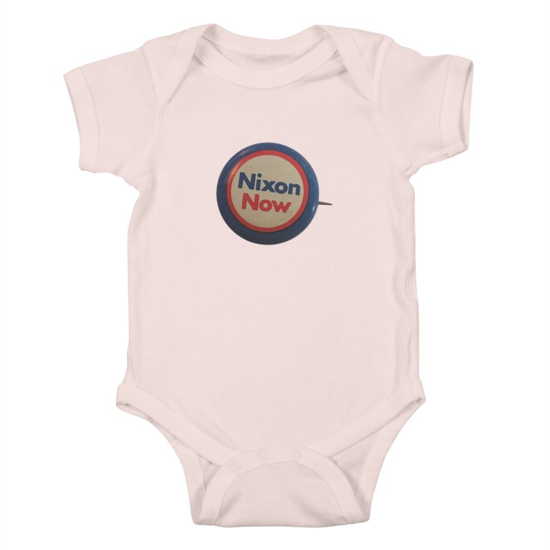 Nixon for President (re-election 1972) Kids Baby Bodysuit by Vintage Political Button Shirts
