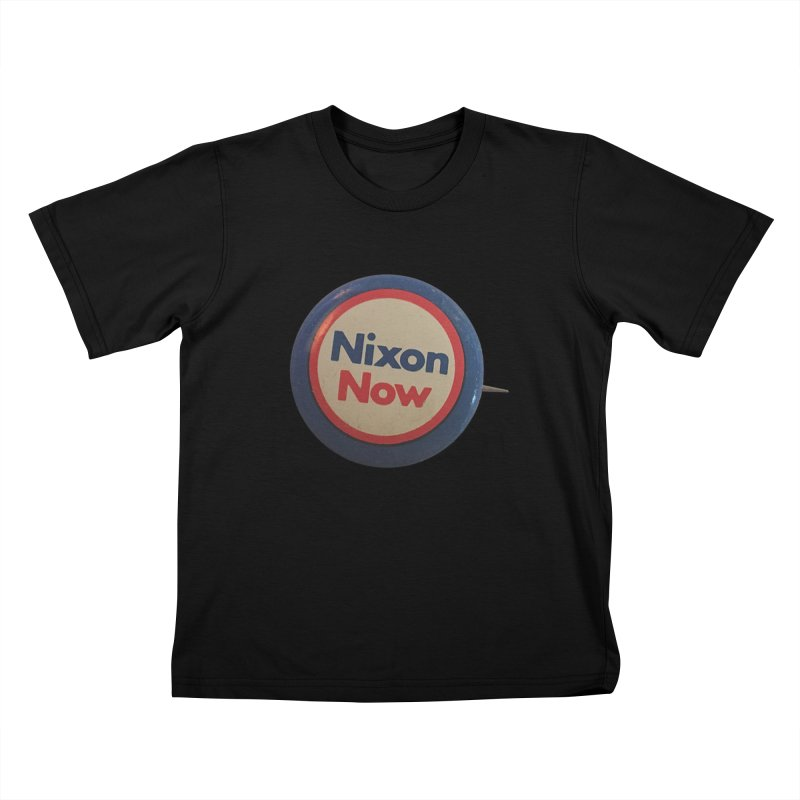 Nixon for President (re-election 1972) Kids T-shirt by Vintage Political Button Shirts