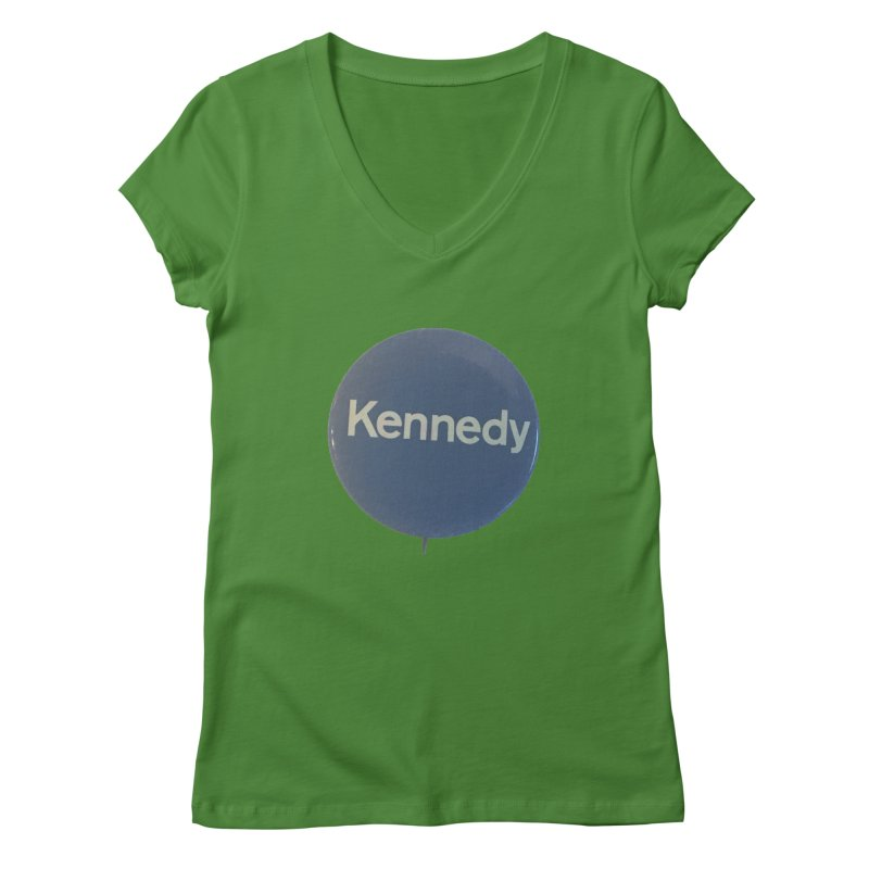 Bobby Kennedy for President (1968) Women's V-Neck by Vintage Political Button Shirts