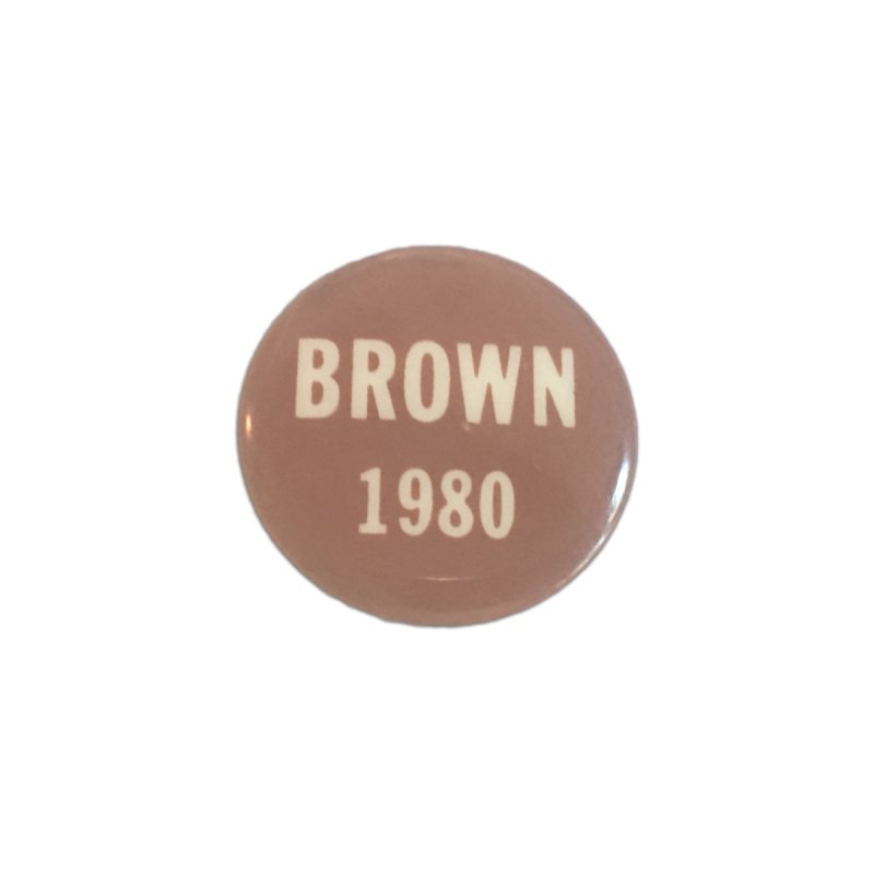 Jerry Brown for President by Vintage Political Button Shirts