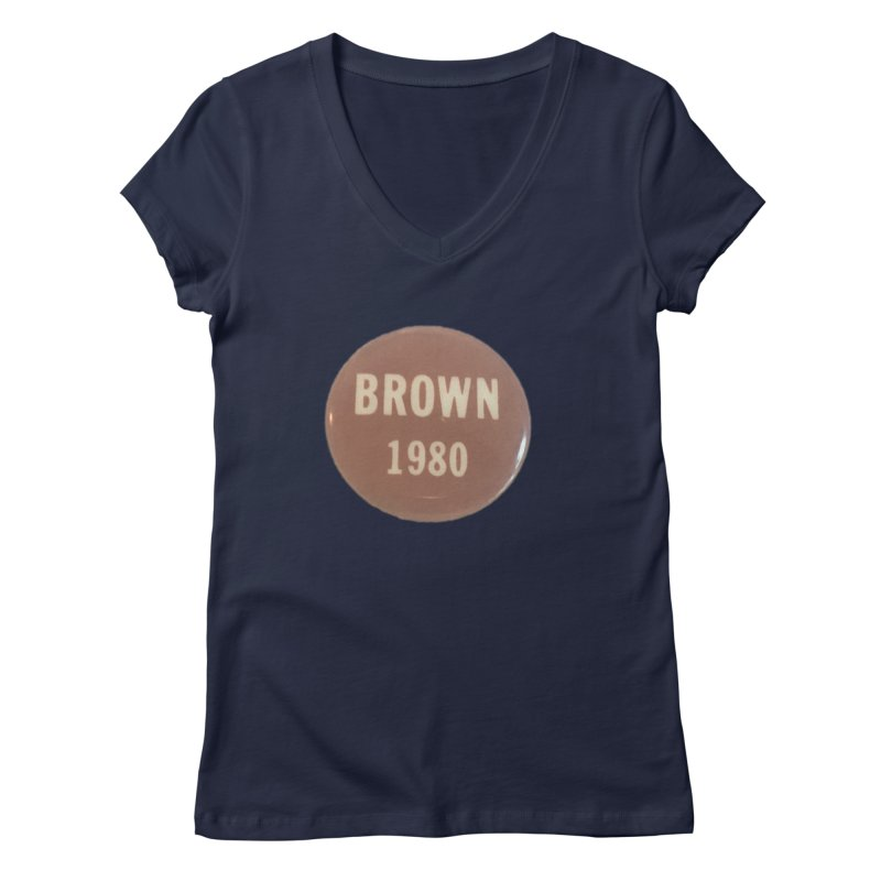 Jerry Brown for President Women's V-Neck by Vintage Political Button Shirts