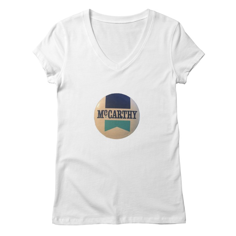 McCarthy for President Women's V-Neck by Vintage Political Button Shirts