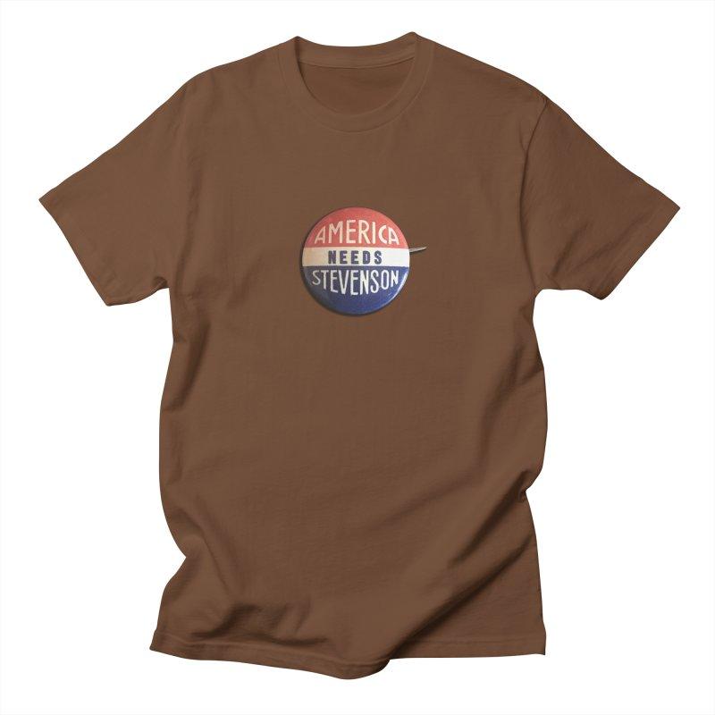 America Needs Stevenson Men's T-shirt by Vintage Political Button Shirts