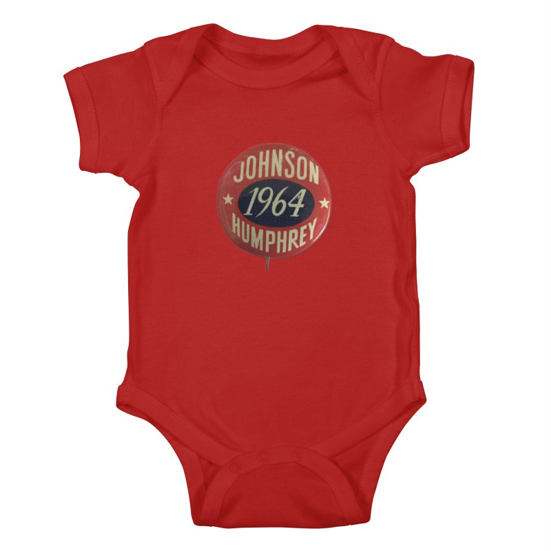 Johnson-Humphrey-1964 Kids Baby Bodysuit by Vintage Political Button Shirts