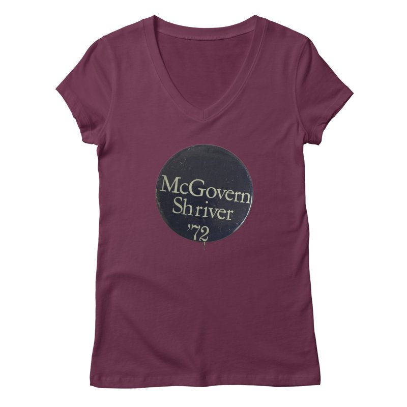 McGovern-Shriver 1972 Women's V-Neck by Vintage Political Button Shirts