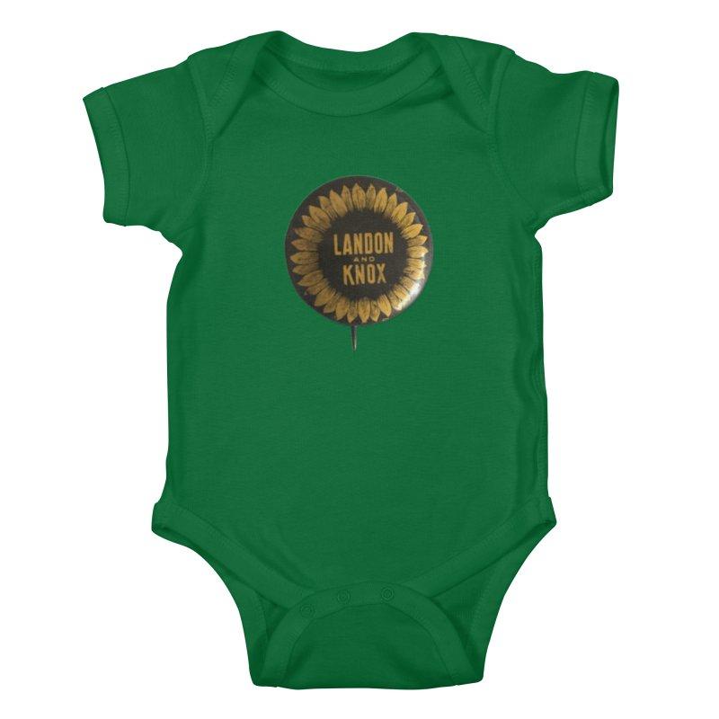 Landon-Knox 1936 Kids Baby Bodysuit by Vintage Political Button Shirts
