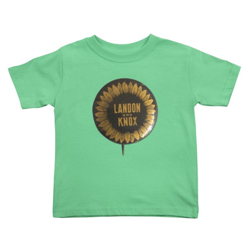 Landon-Knox 1936 Kids Toddler T-Shirt by Vintage Political Button Shirts