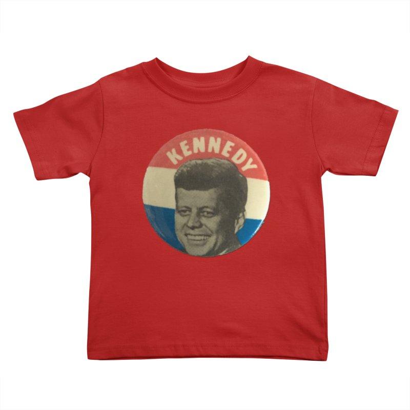 John F Kennedy 1960 Kids Toddler T-Shirt by Vintage Political Button Shirts