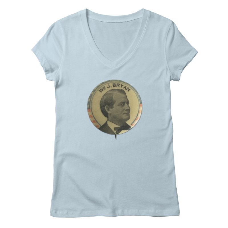 William Jenning Bryan 1900 Women's V-Neck by Vintage Political Button Shirts