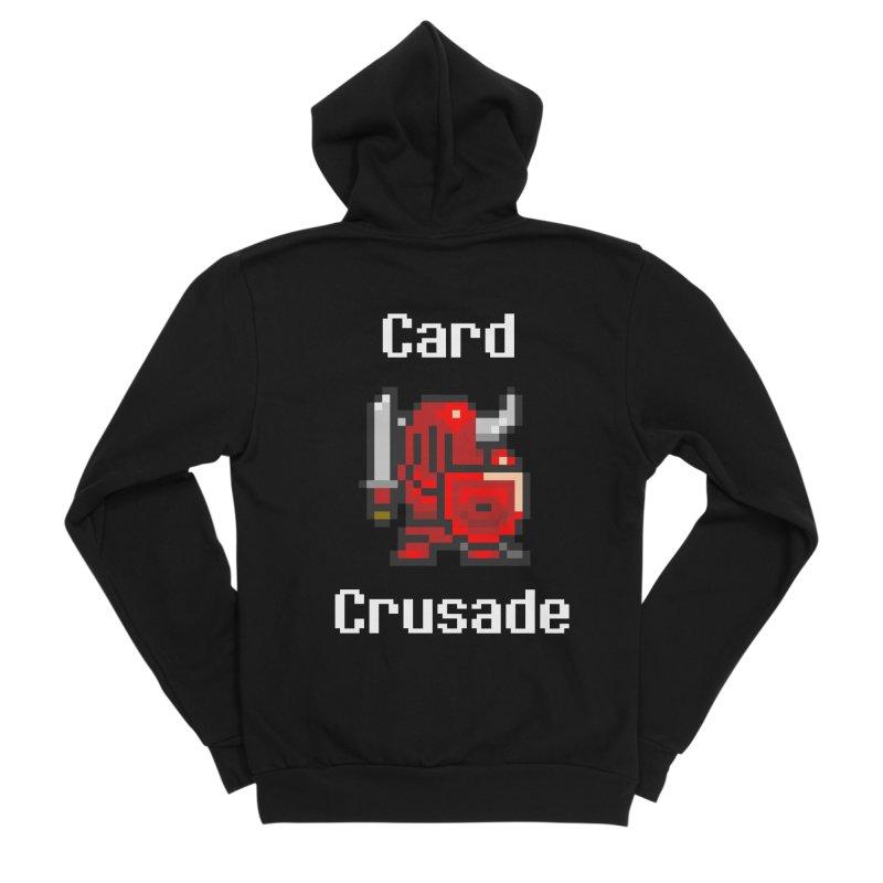 Card Crusade Men's Sponge Fleece Zip-Up Hoody by Pollywog Games Merch