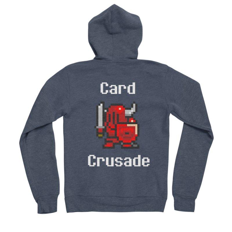 Card Crusade Women's Sponge Fleece Zip-Up Hoody by Pollywog Games Merch