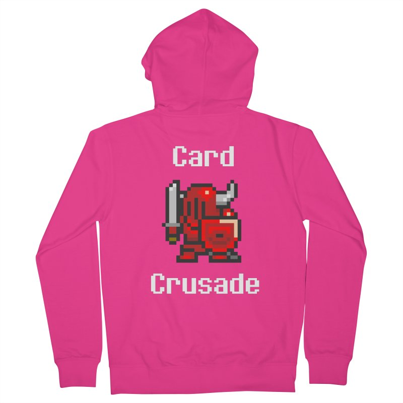 Card Crusade Men's French Terry Zip-Up Hoody by Pollywog Games Merch
