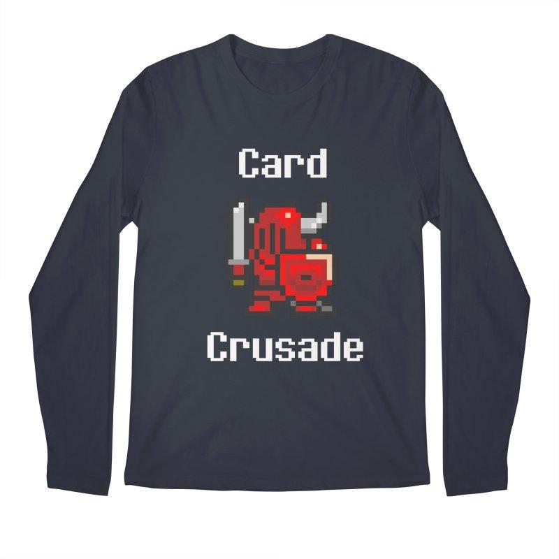 Card Crusade Men's Regular Longsleeve T-Shirt by Pollywog Games Merch