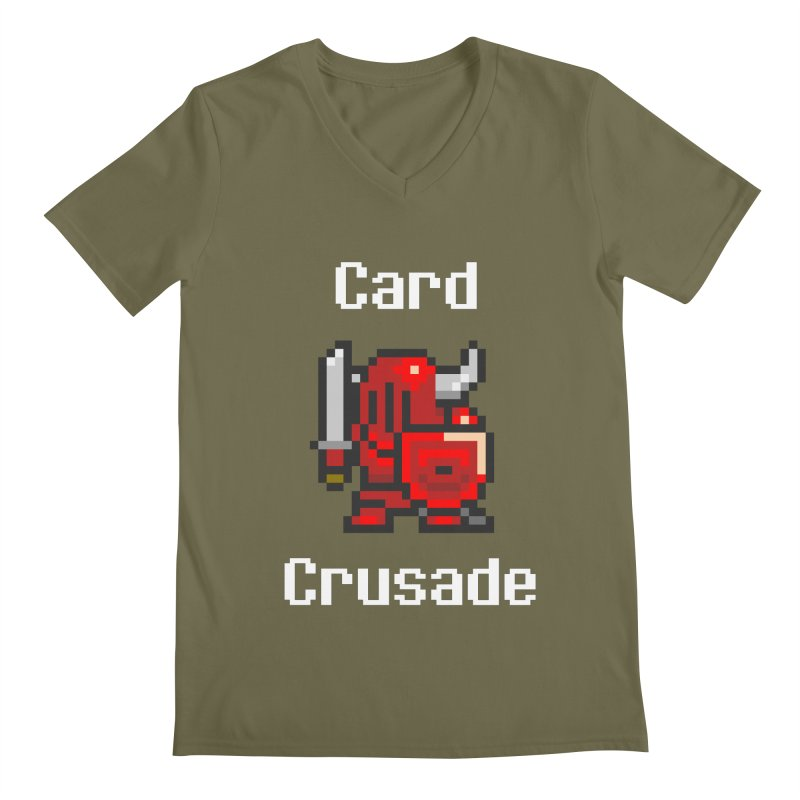 Card Crusade Men's Regular V-Neck by Pollywog Games Merch