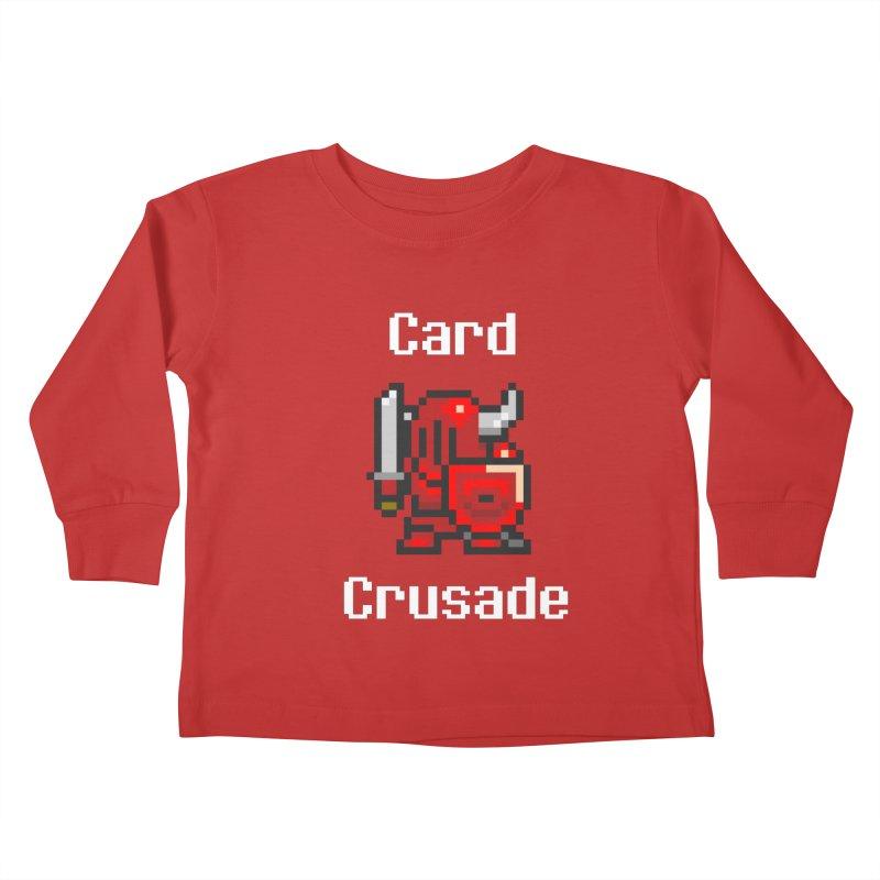 Card Crusade Kids Toddler Longsleeve T-Shirt by Pollywog Games Merch