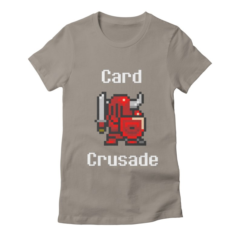Card Crusade Women's Fitted T-Shirt by Pollywog Games Merch