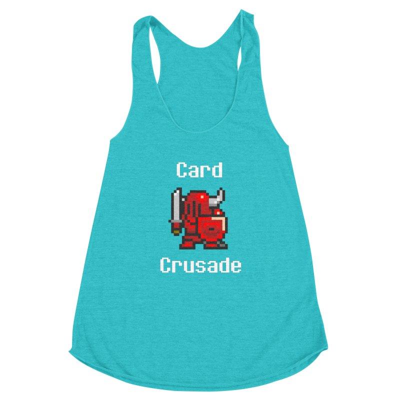 Card Crusade Women's Racerback Triblend Tank by Pollywog Games Merch