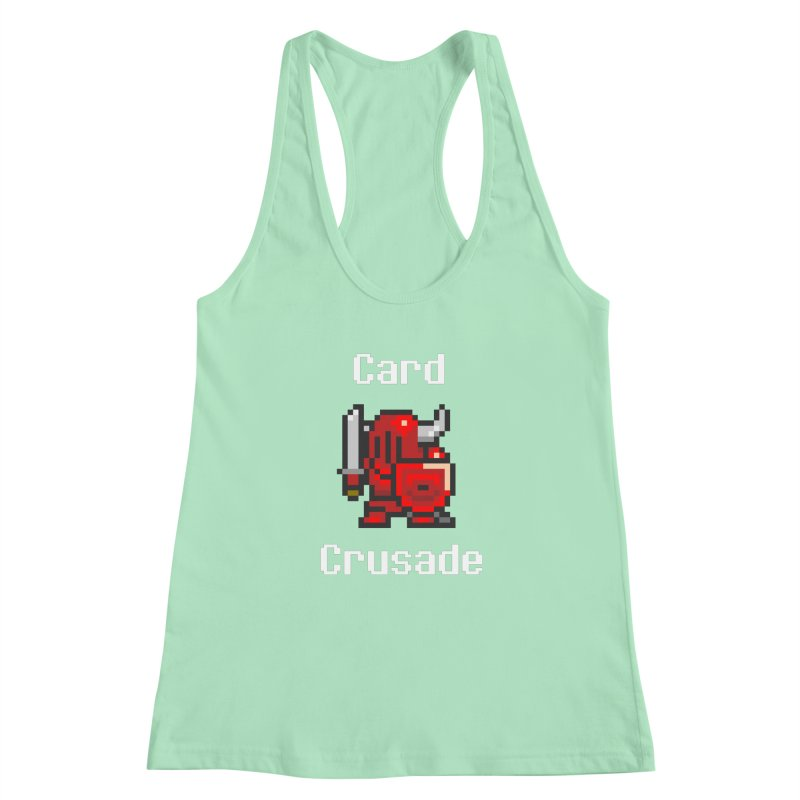 Card Crusade Women's Racerback Tank by Pollywog Games Merch