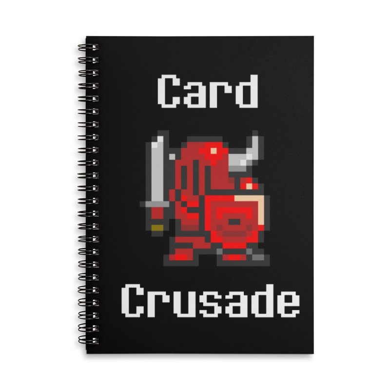 Card Crusade Accessories Lined Spiral Notebook by Pollywog Games Merch