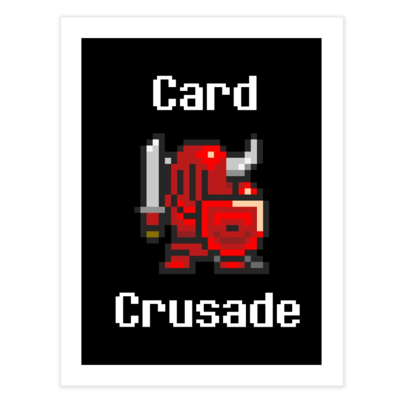 Card Crusade Home Fine Art Print by Pollywog Games Merch