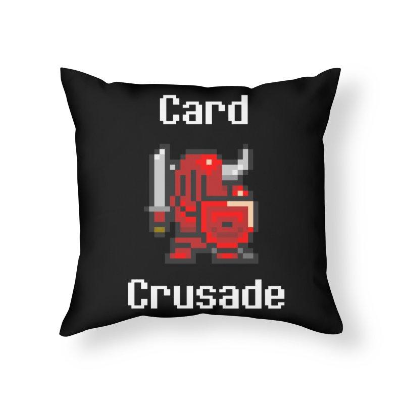 Card Crusade Home Throw Pillow by Pollywog Games Merch