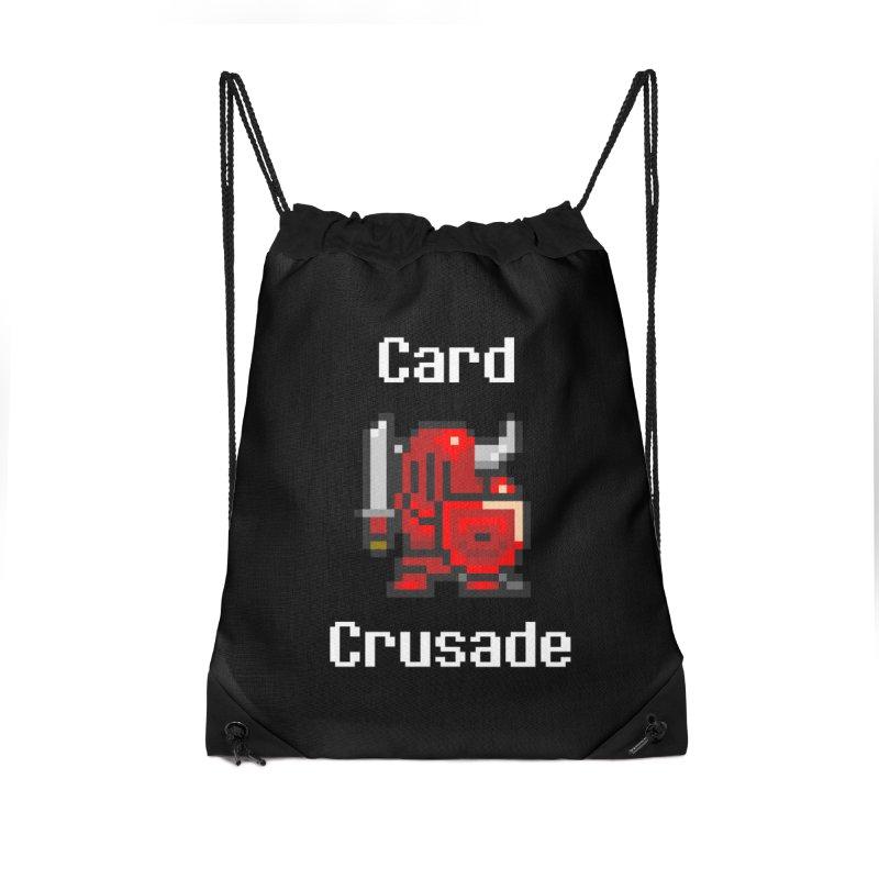 Card Crusade Accessories Drawstring Bag Bag by Pollywog Games Merch