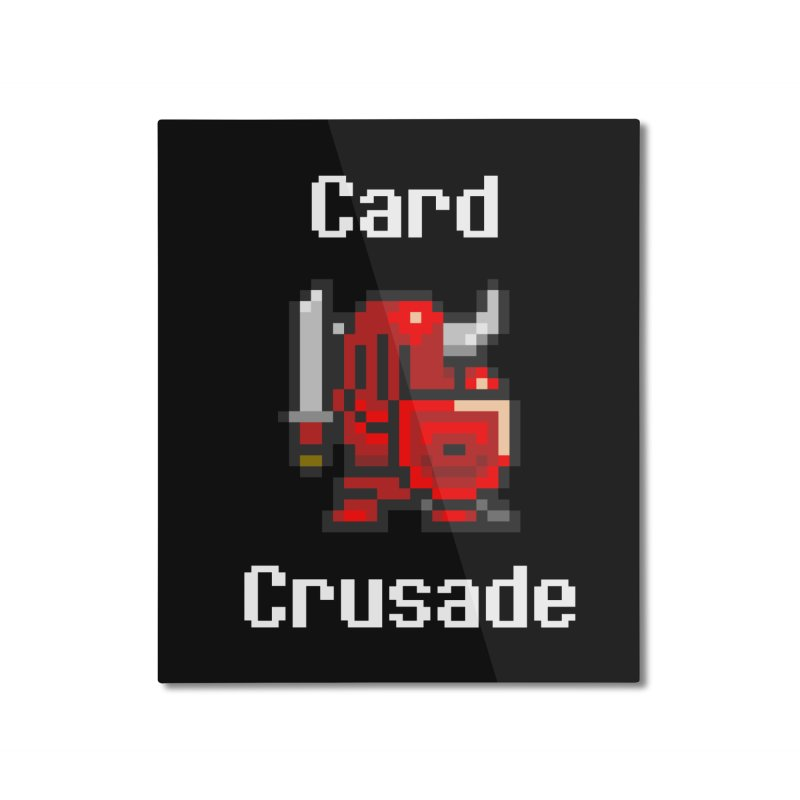 Card Crusade Home Mounted Aluminum Print by Pollywog Games Merch