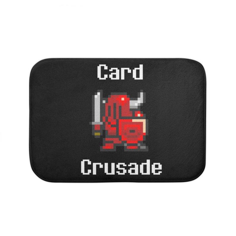 Card Crusade Home Bath Mat by Pollywog Games Merch