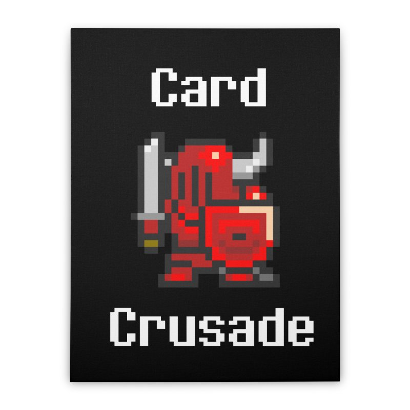 Card Crusade Home Stretched Canvas by Pollywog Games Merch