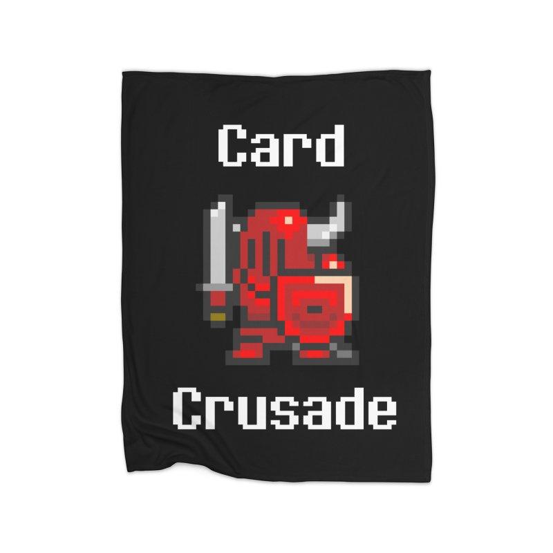 Card Crusade Home Fleece Blanket Blanket by Pollywog Games Merch