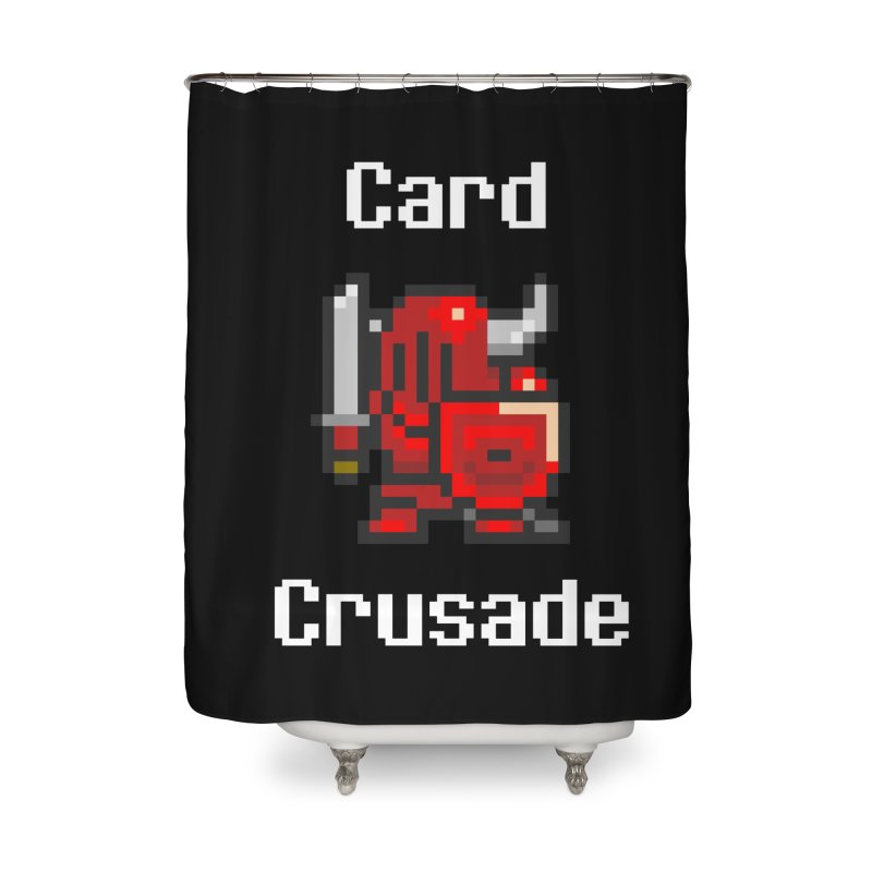Card Crusade Home Shower Curtain by Pollywog Games Merch