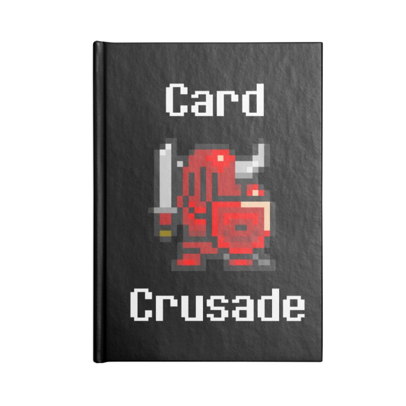 Card Crusade Accessories Lined Journal Notebook by Pollywog Games Merch
