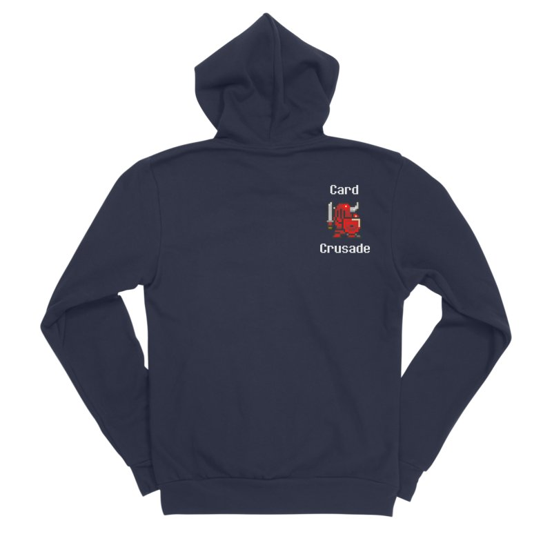 Card Crusade - Small Men's Zip-Up Hoody by Pollywog Games Merch