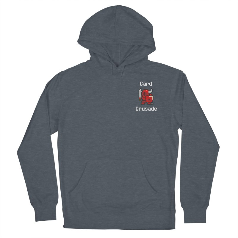 Card Crusade - Small Men's French Terry Pullover Hoody by Pollywog Games Merch