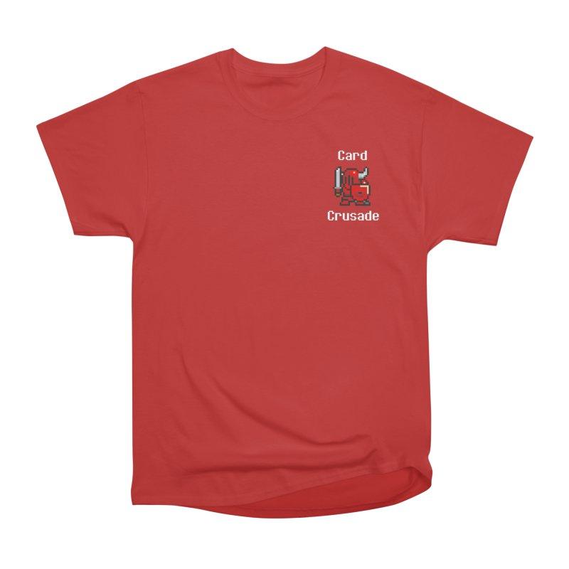 Card Crusade - Small Women's Heavyweight Unisex T-Shirt by Pollywog Games Merch