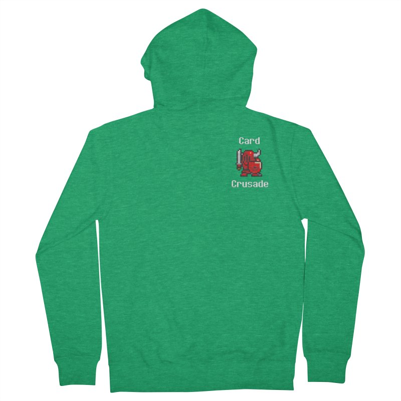 Card Crusade - Small Men's French Terry Zip-Up Hoody by Pollywog Games Merch