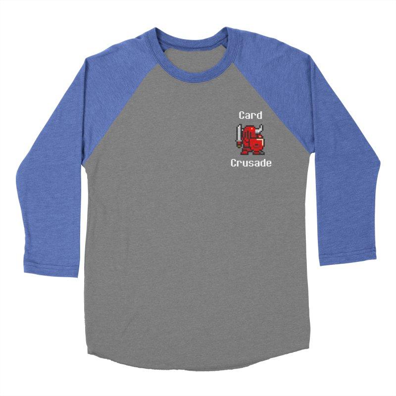 Card Crusade - Small Women's Baseball Triblend Longsleeve T-Shirt by Pollywog Games Merch